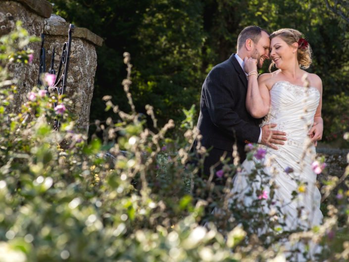Lianne and John are photographed at Lympne Castle in Kent on their wedding day